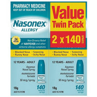 Nasonex Allergy Spray Twin 140