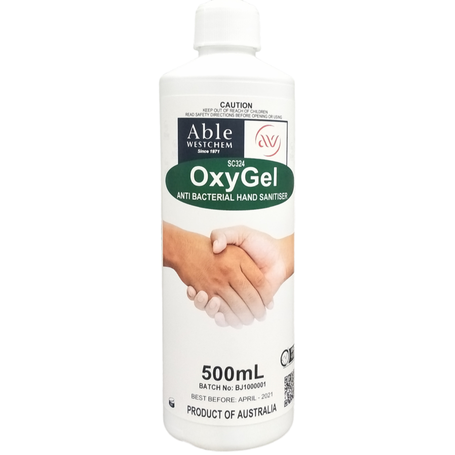 BULK BUY OxyGel - Anti-Bacterial Anti-Viral  Hand Sanitising Gel 500mL - Squirt Bottle