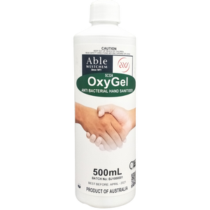 OxyGel - Anti-Bacterial Anti-Viral  Hand Sanitising Gel 500mL - Squirt Bottle