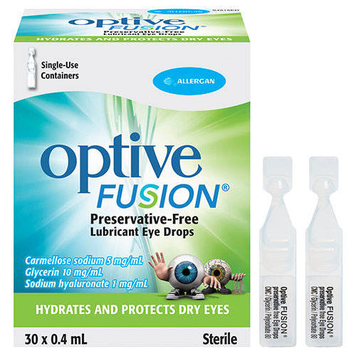 Optive Fusion Eye Drop 30 Vials x 0.4mL