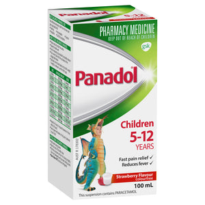 Panadol Suspension 5-12yr Strawberry