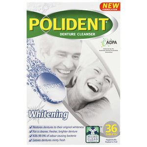 Polident Whitening Cleanser 36 Tablets