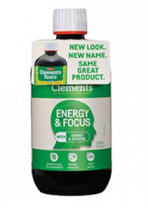 Clements Energy and Focus Tonic Oral Liquid 500mL (Green) - WAS 'Clements Tonic'