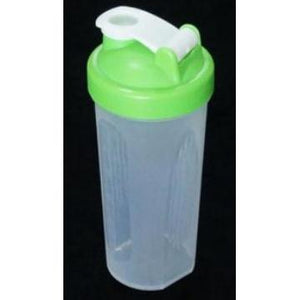 Shaker Bottle with Stainless Steel Wire Mixer Ball - Green - 600mL