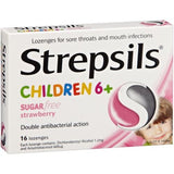 Strepsils Children 6+ Strawberry Sugar-Free 16