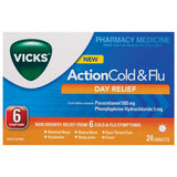 Vicks Action Cold & Flu Tab 24