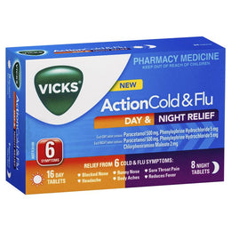 Vicks Action Day & Night Tablets 24