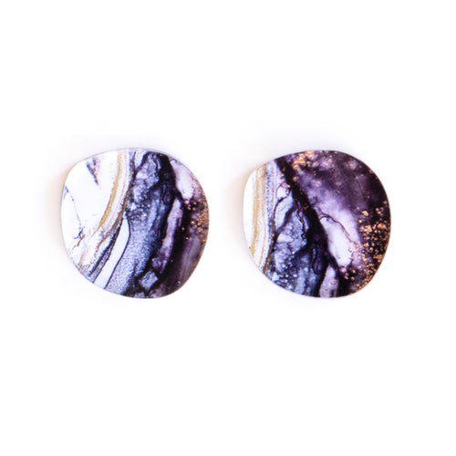 """Ghostly Gum"" Organic Large Studs"