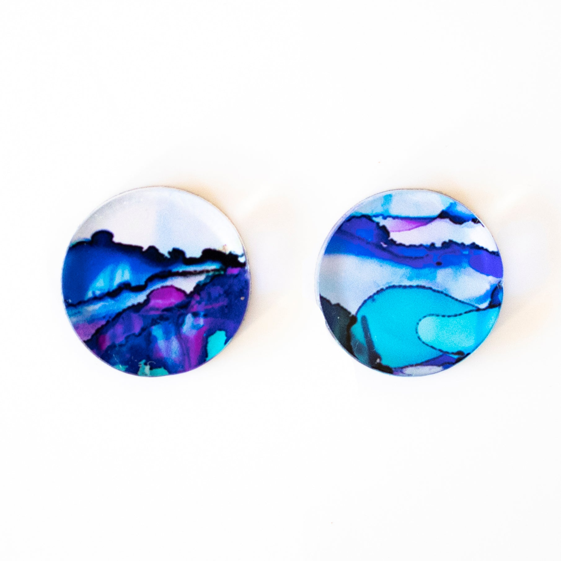 """Exhale VIII"" Small Round Studs"