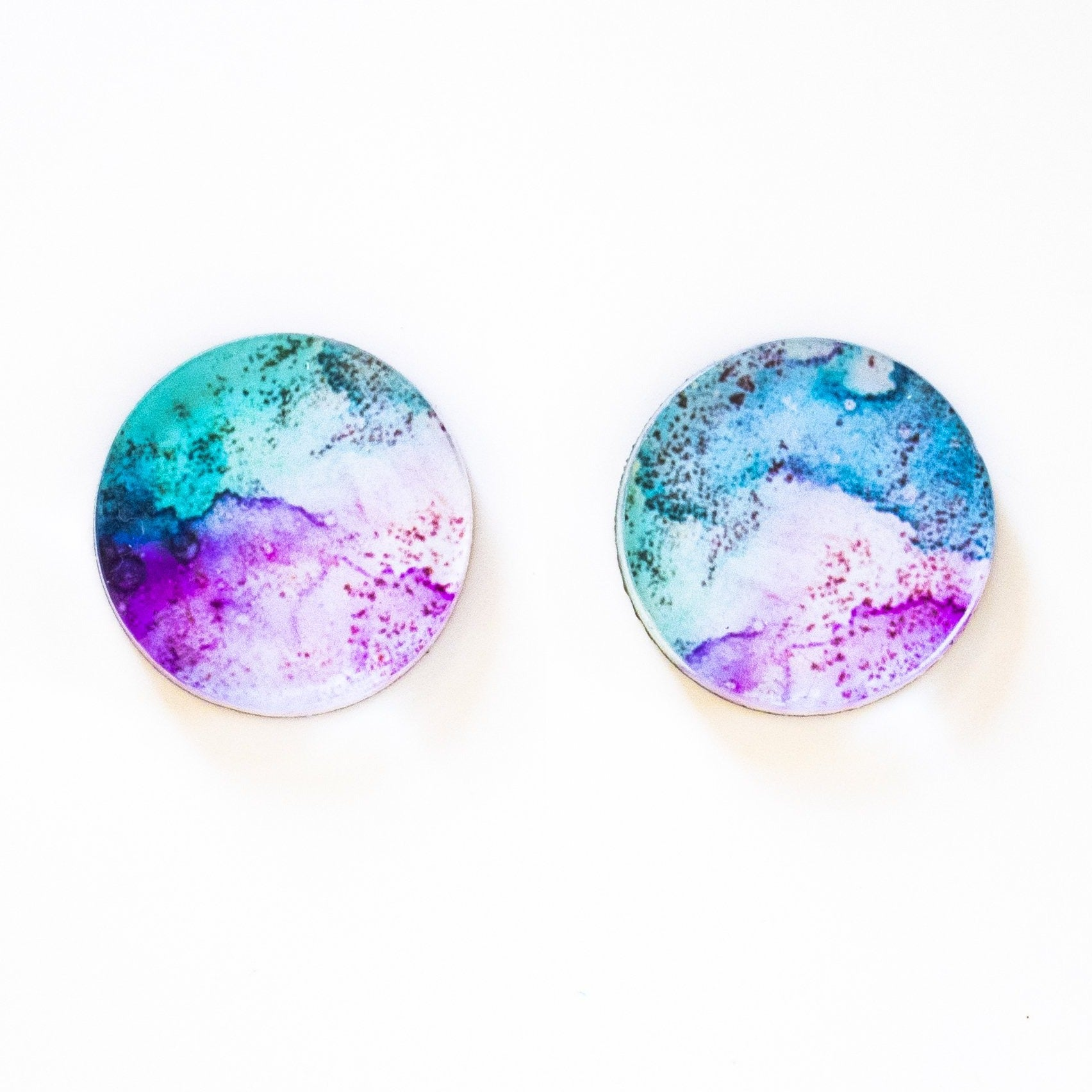 """In Bloom"" Small Round Studs"