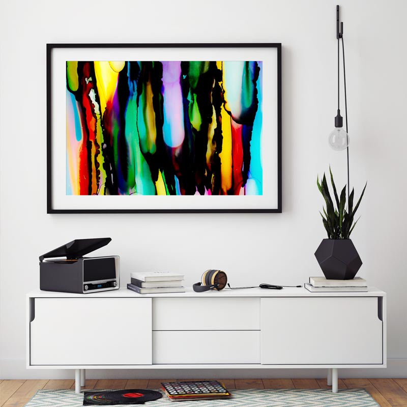 """Licorice II"" Fun Abstract Decor"