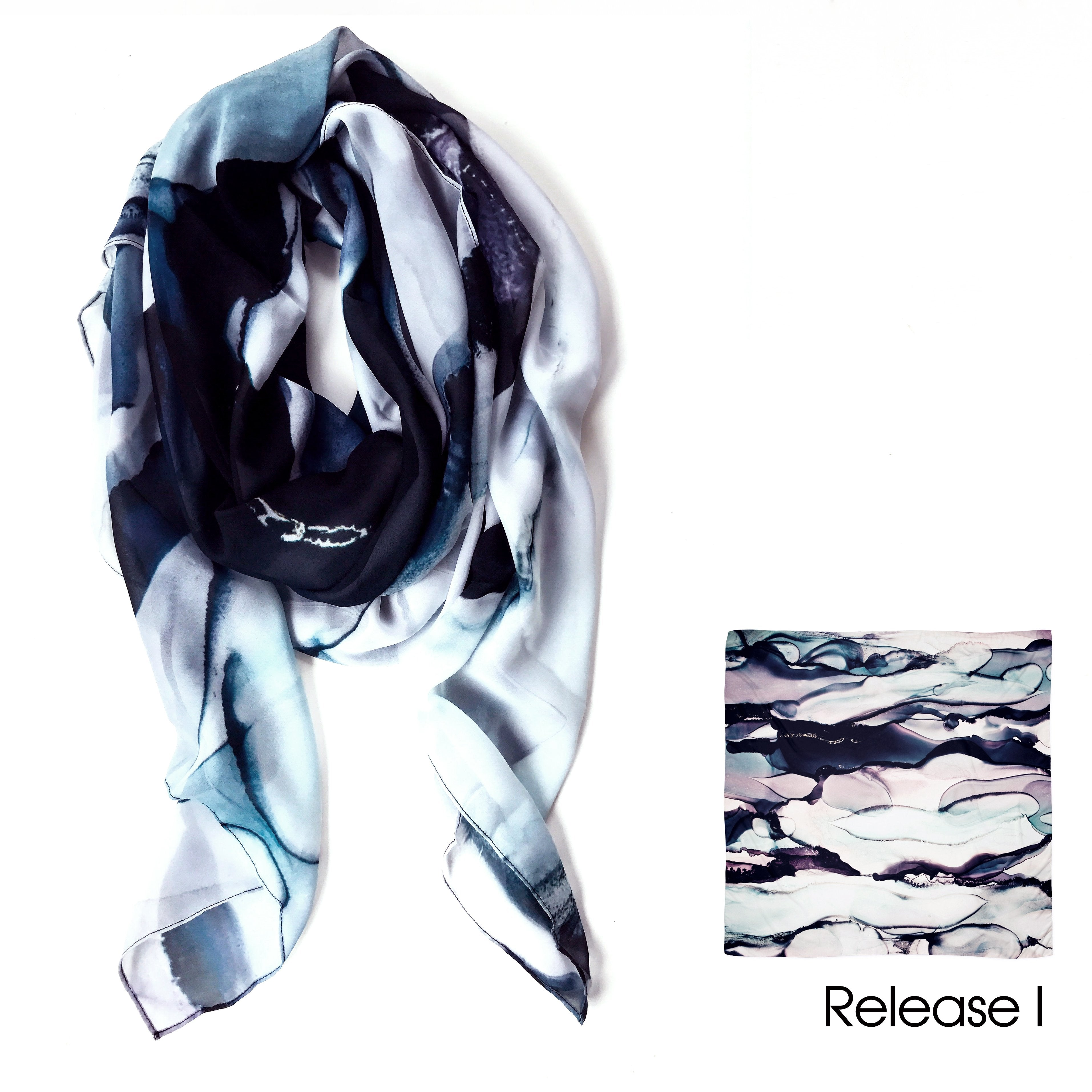 """Monochrome"" Earring & Scarf Gift Pack"