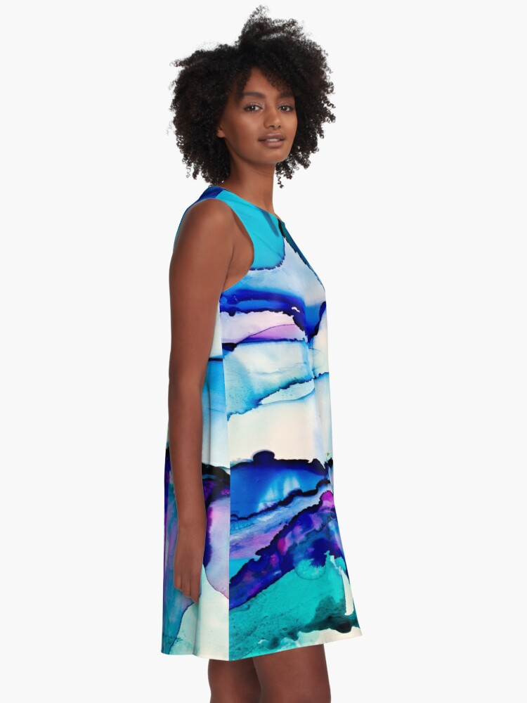 Exhale VIII Art Swing Dress
