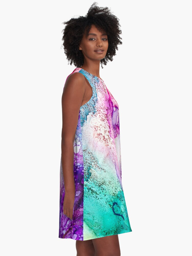 In Bloom Art Swing Dress