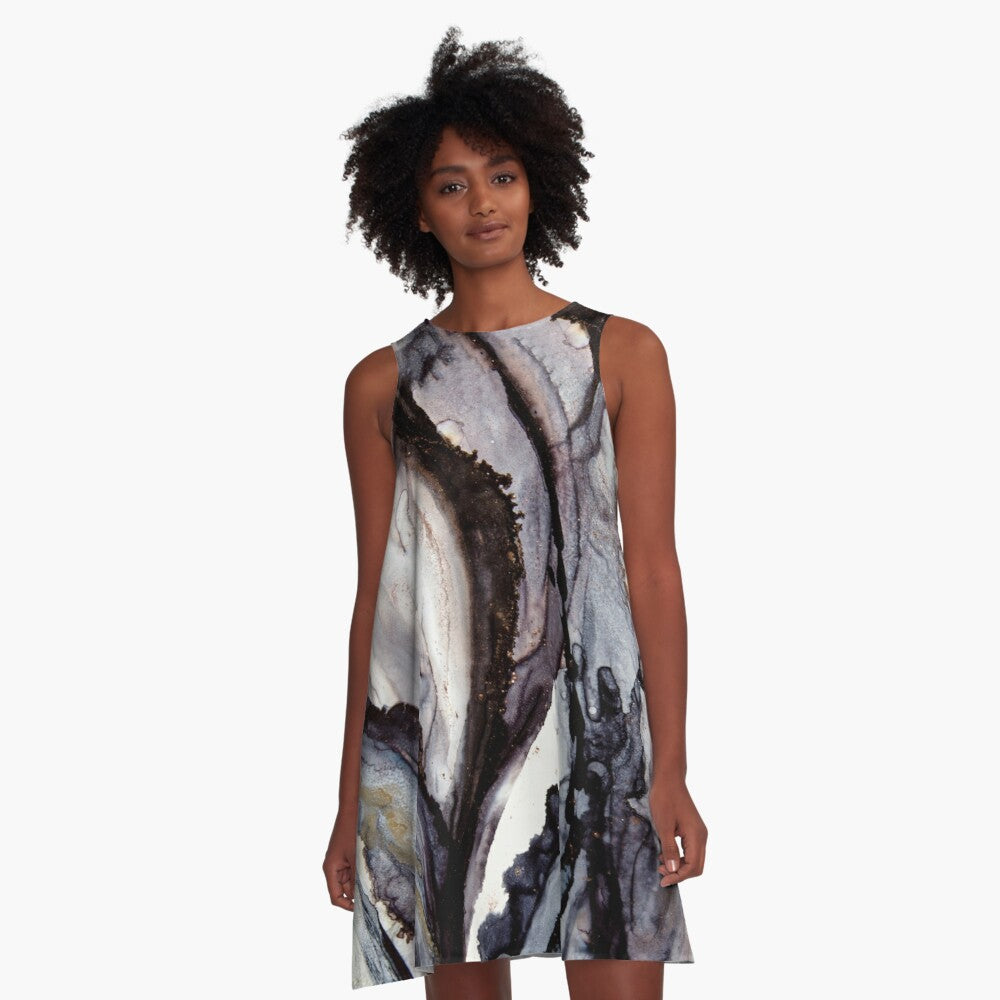 Ghostly Gum Art Swing Dress