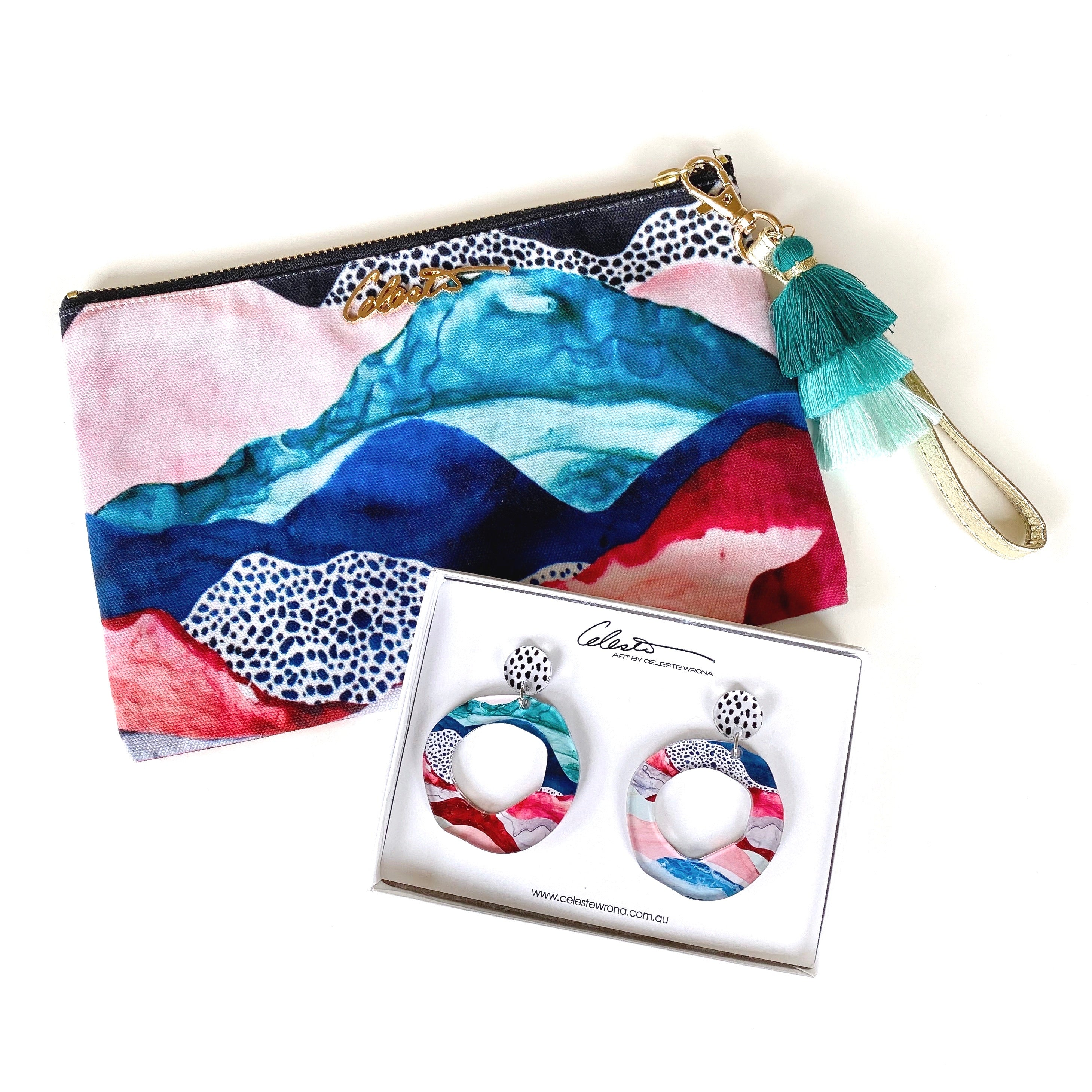 """Awaken X"" Clutch & Hoop Earring Pack"