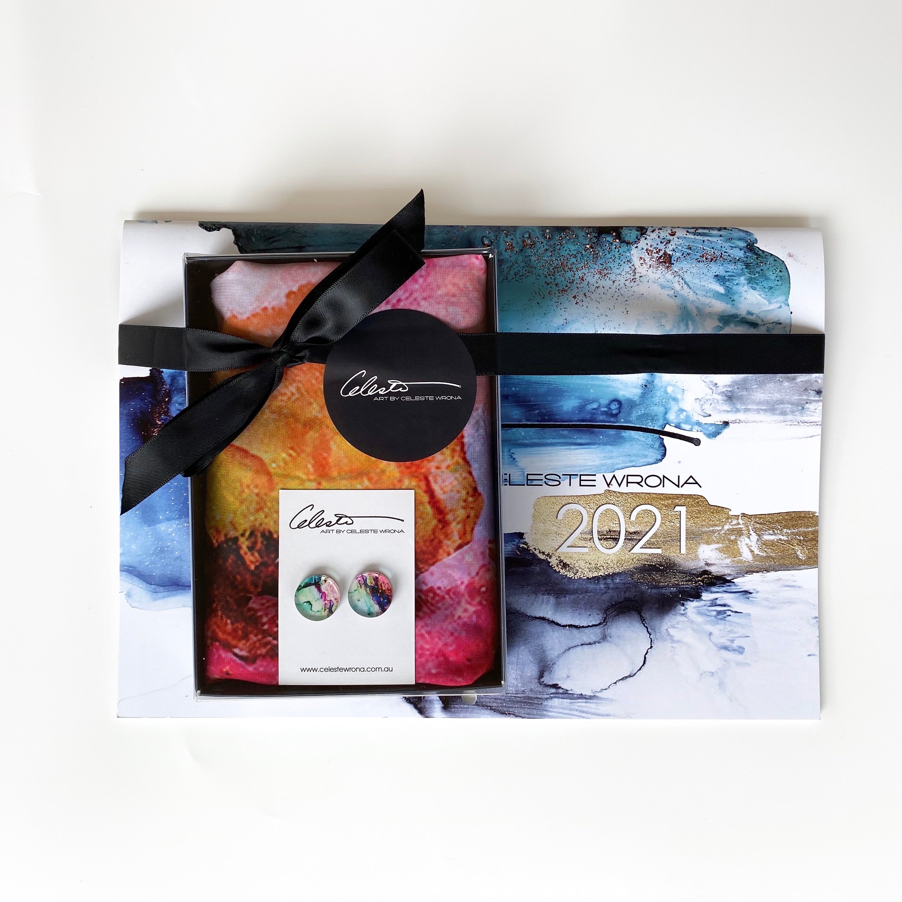 Brights Calendar, Earring & Scarf Gift Pack