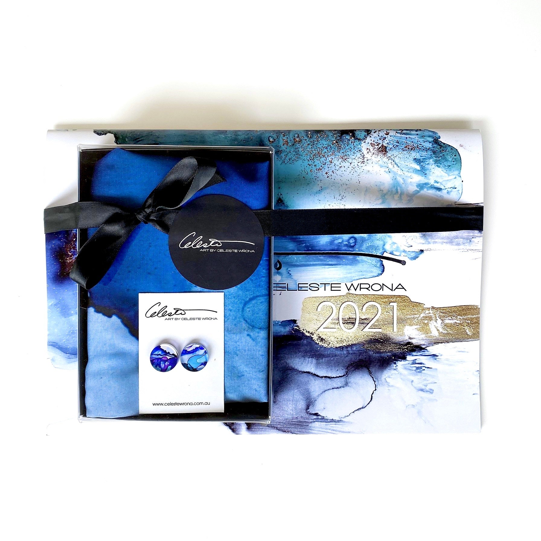 Blues Calendar, Earring & Scarf Gift Pack