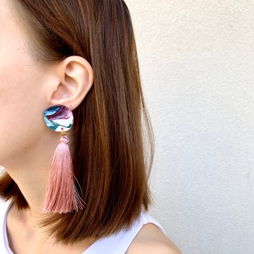 """Awaken I"" Tassel Drop Earrings"