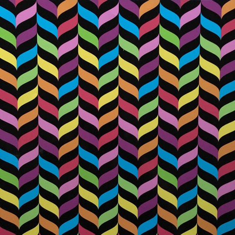 Black Rainbow Feathers Self Adhesive Vinyl