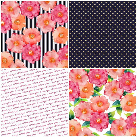 Floral Love Self Adhesive Vinyl Bundle