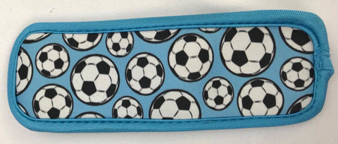 Icy Pole Holder - Soccer Balls Blue