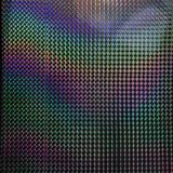 Rainbow Spiral Blue Holographic Self Adhesive Vinyl