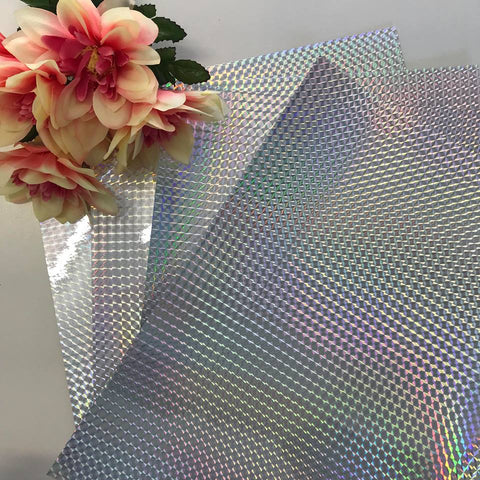 Holographic Self Adhesive Vinyl (Silver)