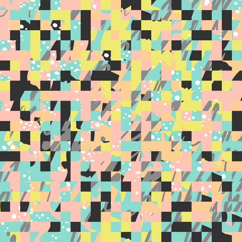 Abstract Pastel Squares Black HTV