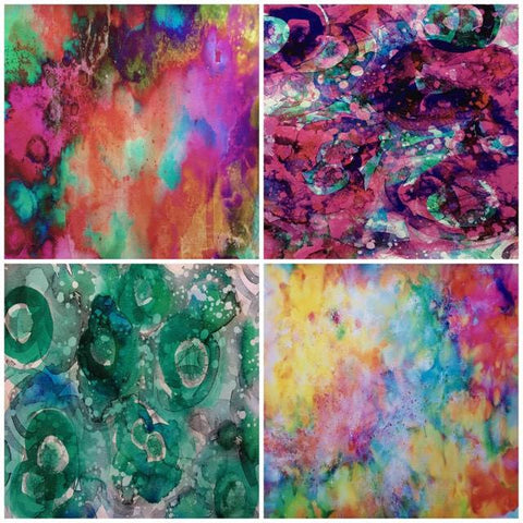 Colourful Watercolour Self Adhesive Vinyl Bundle