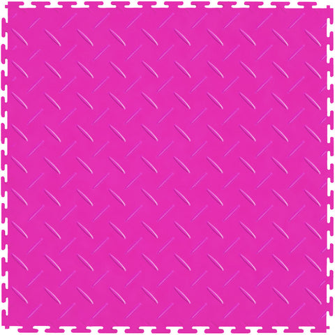 Checker Plate Pink Self Adhesive Vinyl