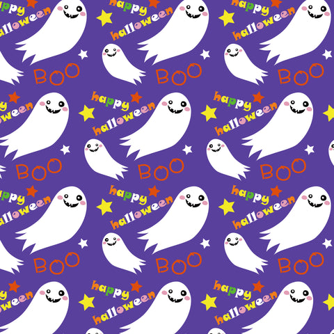 Halloween Purple Ghosts HTV