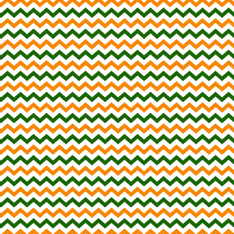 Irish Chevron Green & Gold Self Adhesive Vinyl