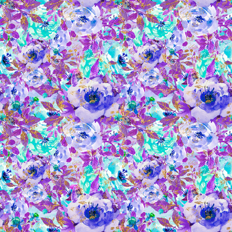 Lavender Life Mauve Flowers Holographic Self Adhesive Vinyl