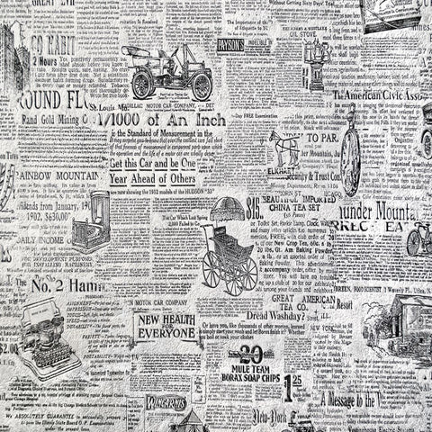 Newspaper Vintage Self Adhesive Vinyl