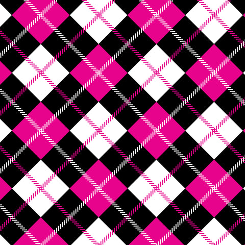 Pink Plaid Diamonds Self Adhesive Vinyl