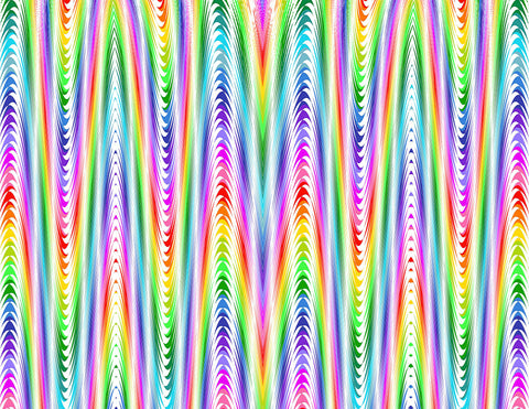 Happy Hippy Rainbow Waves Glitter HTV
