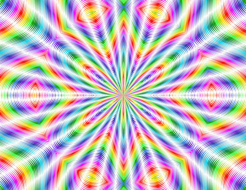 Happy Hippy Rainbow Rays Holographic Self Adhesive Vinyl