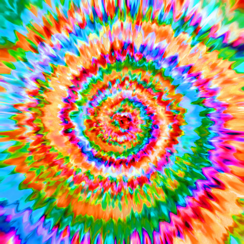 Rainbow Spiral Bright HTV