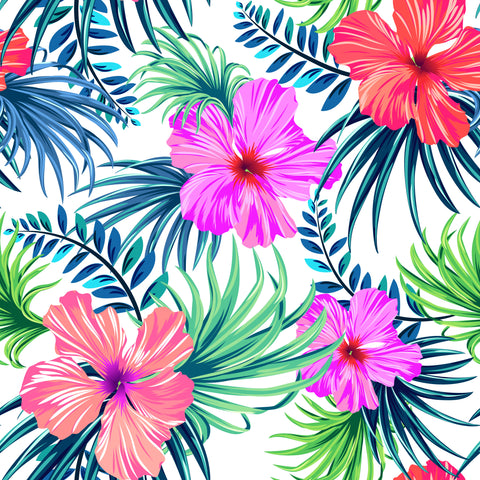 Tropical Hibiscus Self Adhesive Vinyl