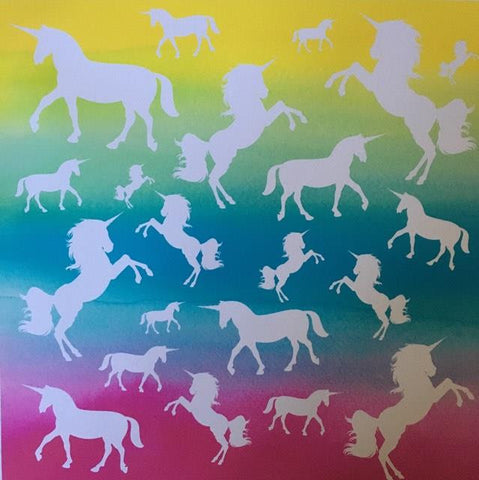 Unicorns Rainbow Self Adhesive Vinyl