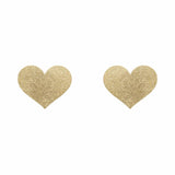 Flash Nipple Covers - Heart - Gold