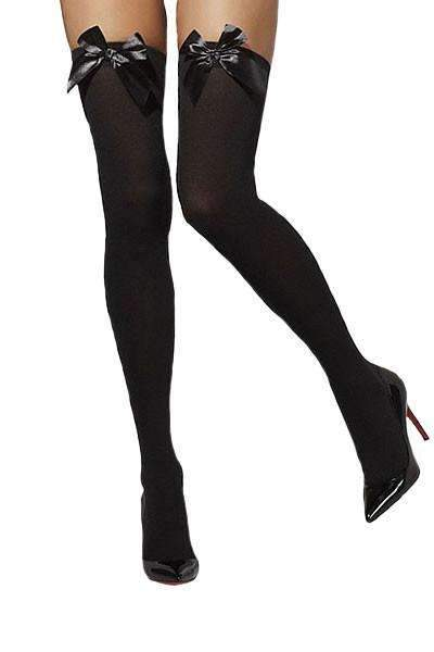 Fever Hold-up Stockings with Black Bows