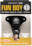 Perfect Fit Soft Hollow Strap-on | Packer | Penis Extender - Fun Boy 11,5 cm (Black)