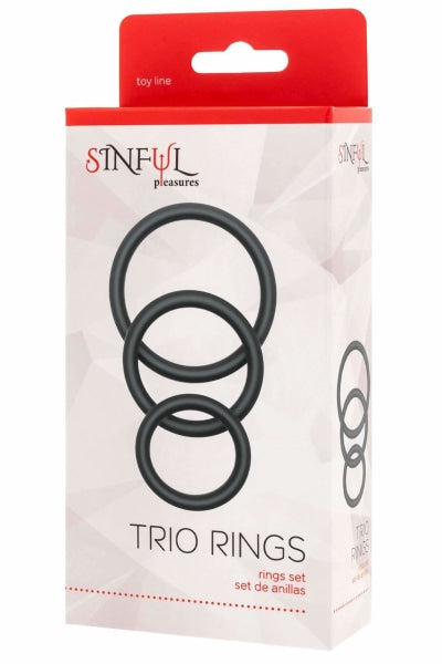 Cock and Ball Trio Rings
