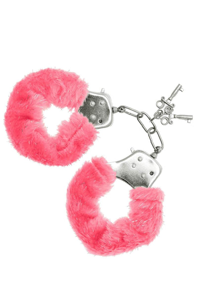 Sinful Pleasures - Furry Handcuffs - Pink