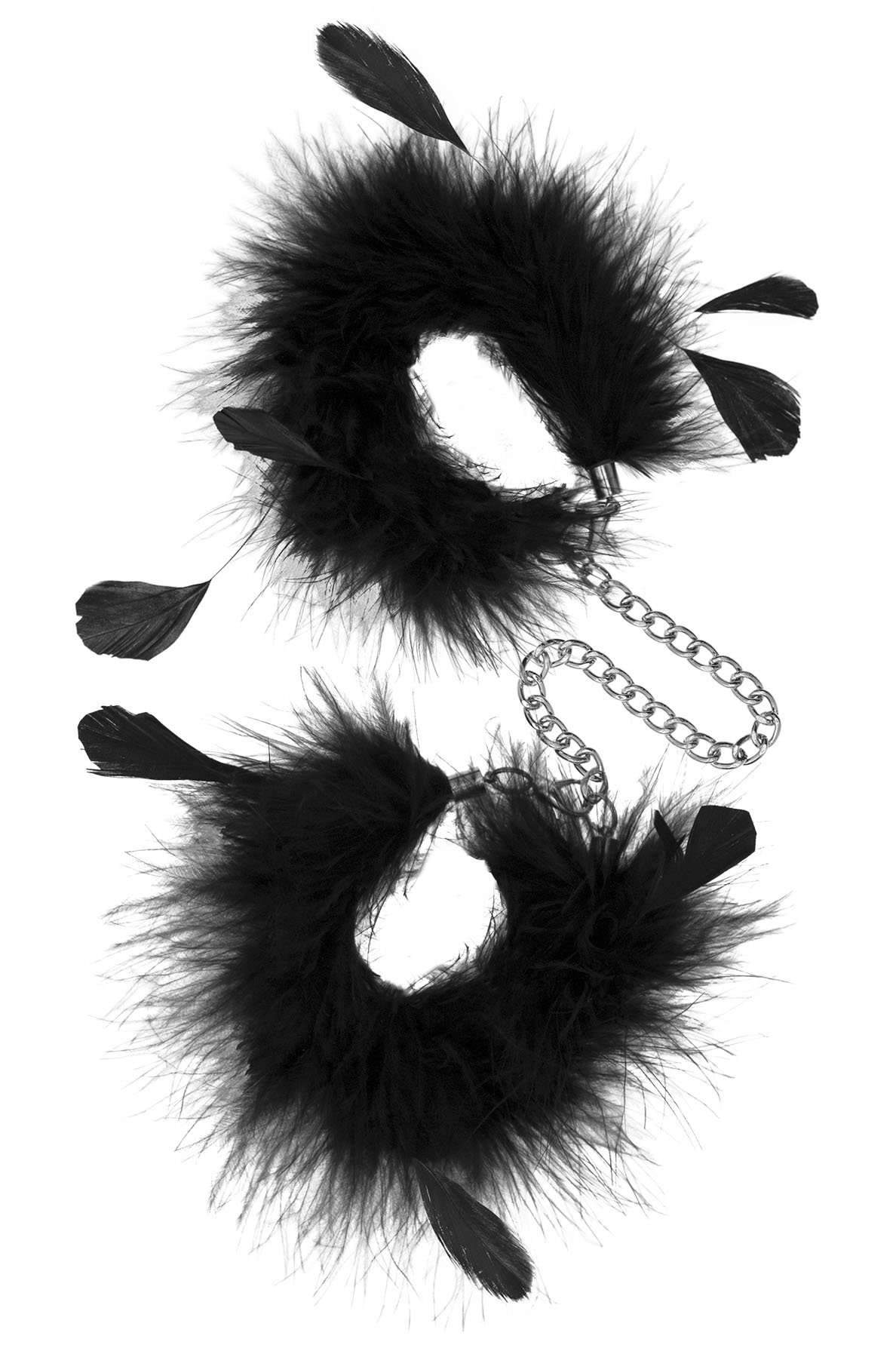 Sinful Pleasures - Feather Handcuffs - Black