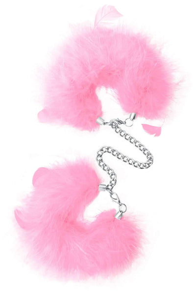 Sinful Pleasures - Feather Handcuffs - Pink