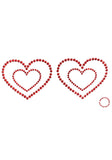 Mimi Nipple Cover Heart - Red