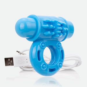 Charged OWow | Vibrating Cock Ring - Blue